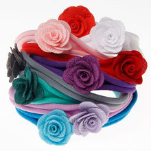 Headwear Baby Lovely Children's Flower Headband Hair Band For Infant Princess Girl Photography Cute Bowknot Elastic Wedding 2018(China)