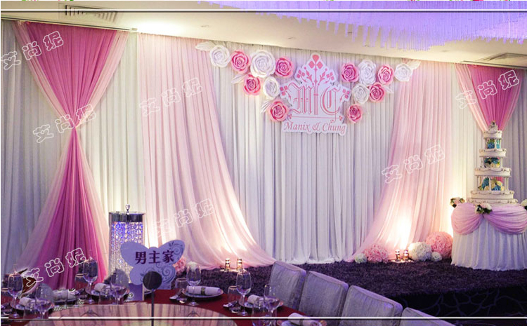 Free Shipping By Air Express Hot Pink Wedding Backdrop Decoration In Party Backdrops From Home Garden On Aliexpress Alibaba Group