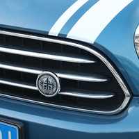 Zinc Alloy Front Grille Emblem Sticker Badge Decals For Mini Cooper R55 R56 R60 F55 F56