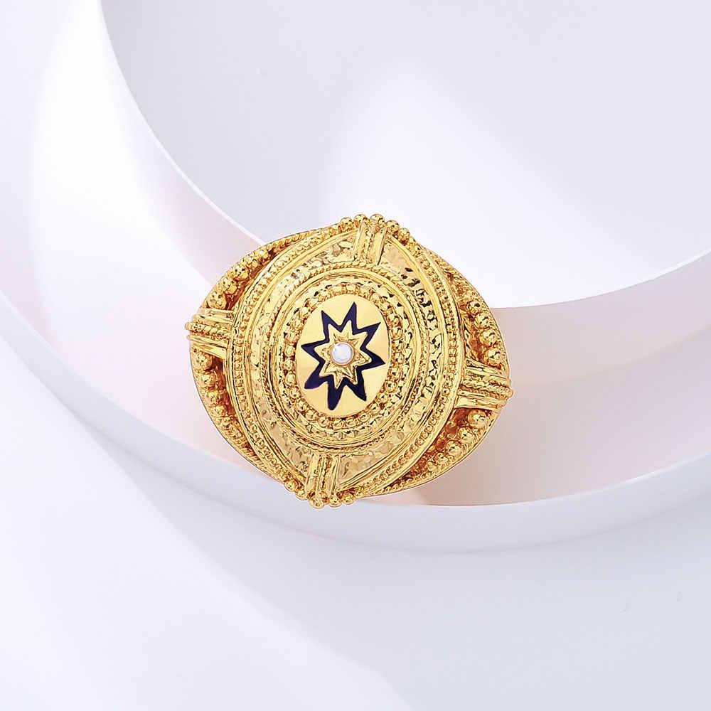 Viennois Fashion Perhiasan Emas Warna Warna Pola Alloy Simulasi Mutiara Bros Pin untuk Wanita Wanita