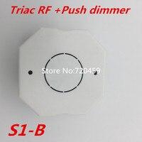 2.4 GHz RF אלחוטי מרחוק R1 עם טריאק RF + לדחוף דימר S1-B AC100-240V קלט 1A 100 W-240 W לדחוף מתג דימר LED