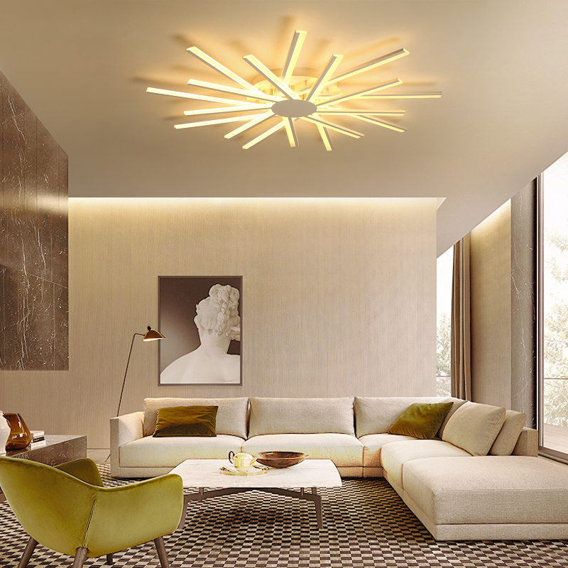 Ceiling Lights & Fans Dragonscence Modern Chandelier Led Lighting Remote Circle Chandelier Lamp For Living Room Business Salon Dining Office Ceiling Lights