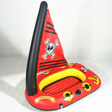 New Child Pirate Ship Pool Float Kids Swimming Ring Pool Seat Float Ring Aid Trainer Float Water For Kids Cartoon Design 1pcs swimming swim pool noodle water float aid noodles foam float water float aid woggle swim flexible row ring learn foam