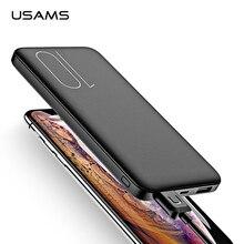 USAMS внешний аккумулятор 10000 мА/ч, двойной USB, быстрая зарядка, внешний аккумулятор, портативный, для путешествий, повербанк для iPhone, samsung, Xiaomi