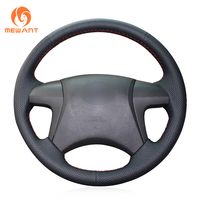 MEWANT Black Artificial Leather Steering Wheel Cover for Toyota Highlander 2008 2009 2010 2011 2012 2013 2014 Camry 2007 2011