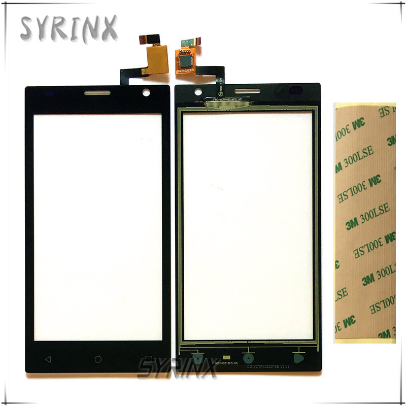 SYRINX Tape Mobile Phone Touchscreen Sensor For Prestigio Wize O3 PSP3458 PSP 3458 DUO Touch Screen Panel Front Glass Digitizer