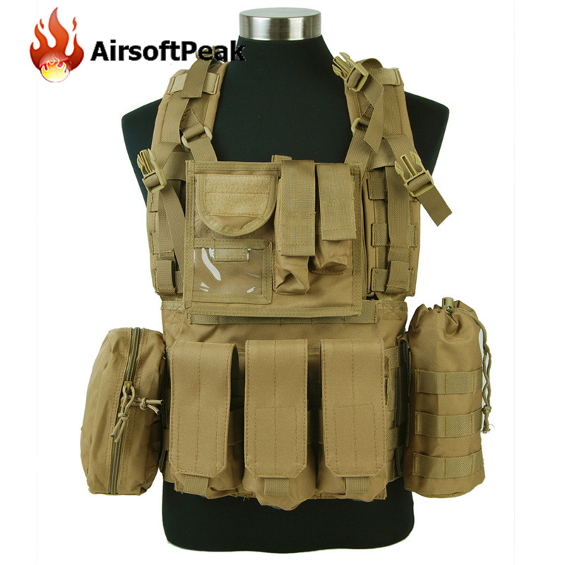 AIRSOFTPEAK 1000D Molle Tactical Vests MLCS RRV Scout Combat Vest Body Armor Hunting Vest Plate Carrier Chest Rig
