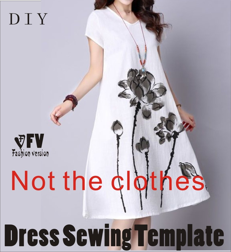 Clothing DIY The Dress Dresses Sewing Pattern Cutting Drawing Dress Sewing Template BLQ-258