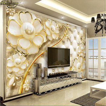 beibehang custom Luxury jewelry Mural Wallpaper for Living Room Sofa Television Background Home Decor 3D wall papers home decor