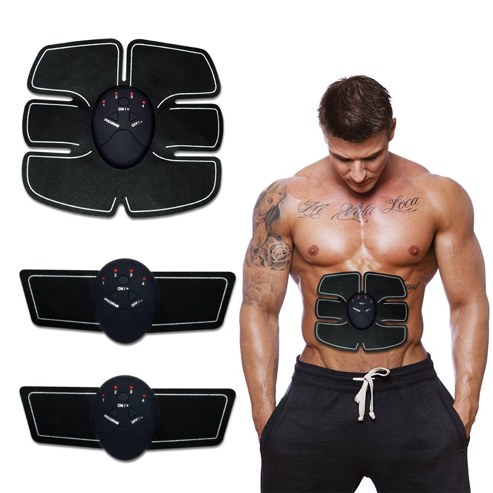 EMS Abdominal Muscle Stimulator Trainer Smart Fitness Abdominal Training Electric Weight Loss Stickers Body Slimming Belt Unisex