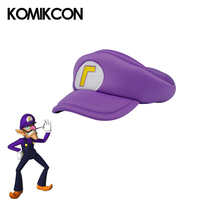 Game Super Mario Bros Hats Anime Waluigi Cosplay Costumes Accessories Purple Baseball Caps Adults Kids Hats Carnival Party Props