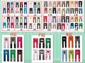 Free shipping baby pants 18 pairs/lot cute trousers for kids  summer model pp pants baby knit  trousers kid wear