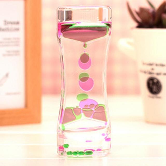 Oil Clock Floating Color Mix Illusion Timer Liquid Motion Visual Desk Toy Decor