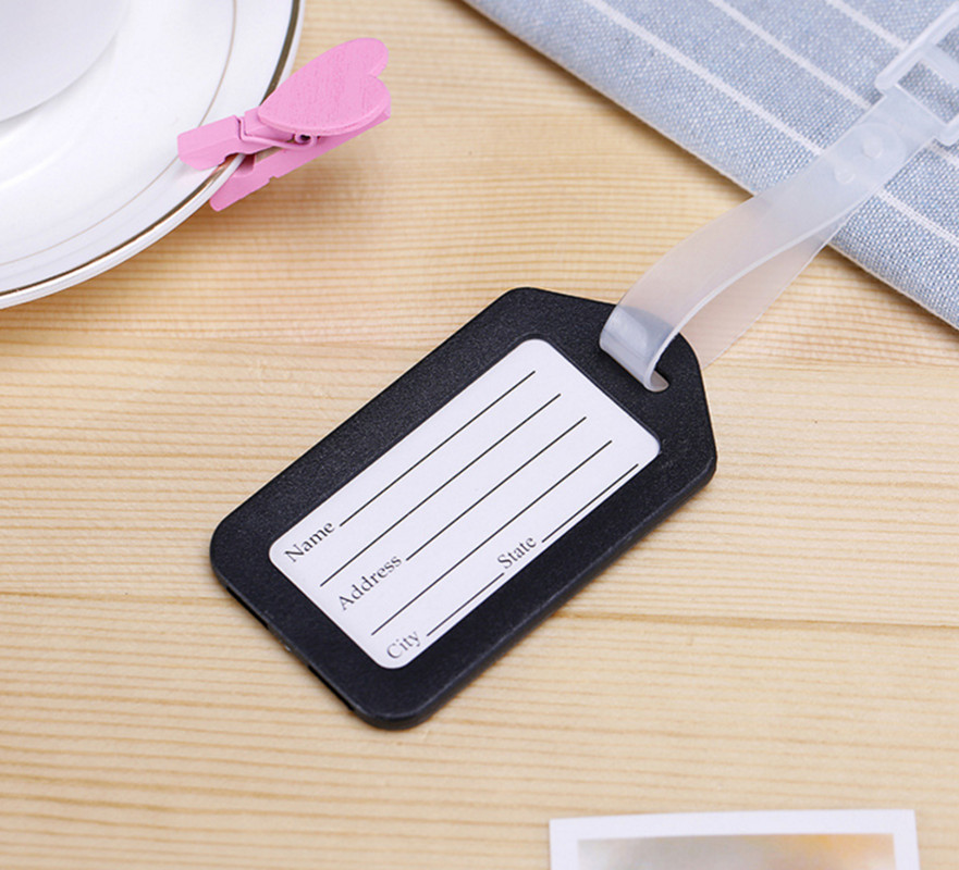 2PCS Lot Travel Accessories Luggage Tag Suitcase ID Address Holder Baggage Boarding Tags Portable Label High Quality Wholesale in Travel Accessories from Luggage Bags