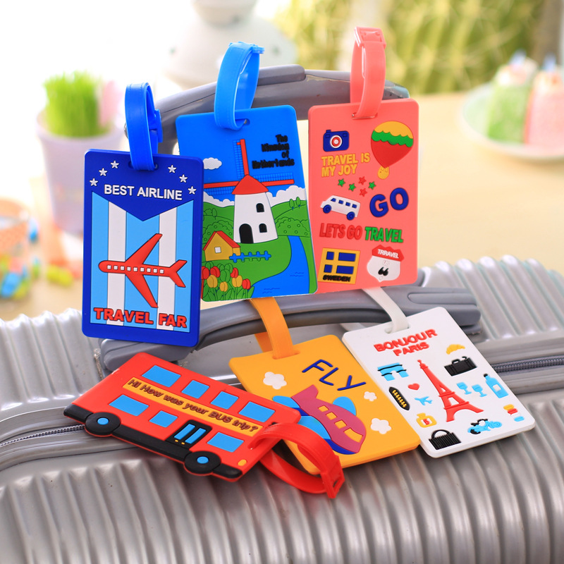 Mrs win Cute Silicone Funky Travel Luggage Label Straps Suitcase Name ID Address Tags Luggage Tags Free Shipping PJ5