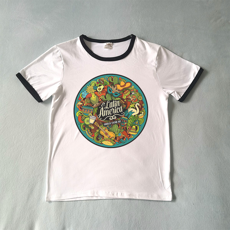 Doodle T-Shirt Art Full Printed Clothes Graffiti All Over Print Shirt Casual Tee