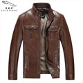 PU Foreign trade Autumn winter 2017 sheepskin leather jacket male middle-aged men business casual motorcycle jacket fitted Dad