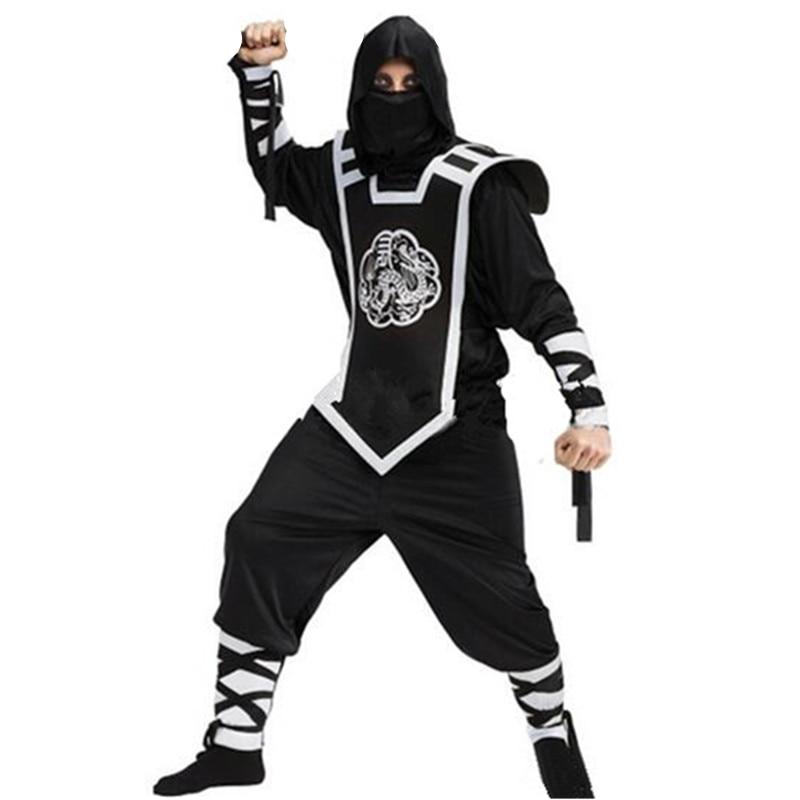 Hood Costume Di Halloween Arti MARZIALI NINJA Ragazzi Costume Bambini Uniforme NERA