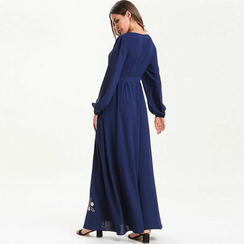 Кафтан абайя платье из Дубая Ислам Мусульманский хиджаб платье Абая для женщин Jilbab Caftan Elbise Giyim Рамадан турецкий ислам ic одежда