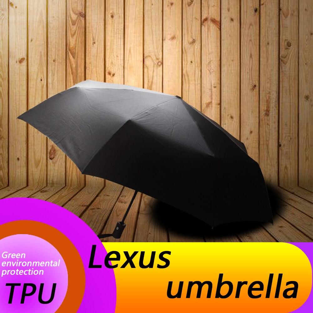 Pour LEXUS ux es rx nx lx ct est lauto mobile automatique pliant parapluie logo voiture impression motif soleil automobile accessoires