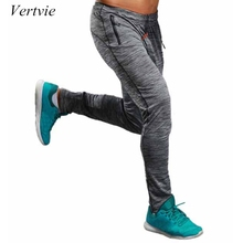 Фотография vertvie Summer Fitness Sport Pants Men Elastic Breathable Sweat Pants Running Training Pants Gym Basketball Trousers Plus Size