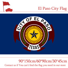 Free shipping El Paso The U.S. City Flag 30*45cm Car 90*150cm 60*90cm 3ft*5ft Hanging For Home decoration