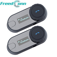 2pcs Lot 1000M Bluetooth Intercom With LCD Screen FM Radio Helmet Headset For Motorcycle Helmet Intercom