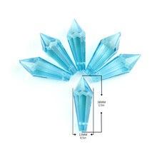 10pcs/Lot 38mm Colorful Chandelier Pendants Glass Crystals Prisms Parts Icicle Hanging Suncatcher Wedding Decoration
