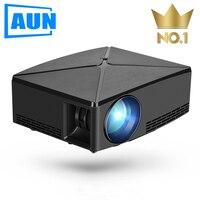 AUN Proyector C80 UP, разрешение 1280x720, 2200 люмен с Android wifi HD мультимедийный проектор для домашнего кинотеатра, дополнительный мини-проектор C80