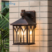 E27 Waterproof Porch Lights Modern LED Wall Lamps Aluminum Courtyard Garden Corridor Outdoor Lighting art decor sconces