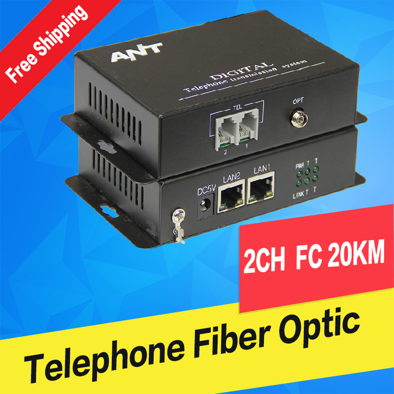 1 channel telephone Fiber Optic Converter/Transceivers , FC fiber optic port, single mode