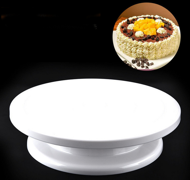 11 rotating revolving plate decorating cake turntable kitchen display stand cake swivel plate decor stand - Turntable Kitchen