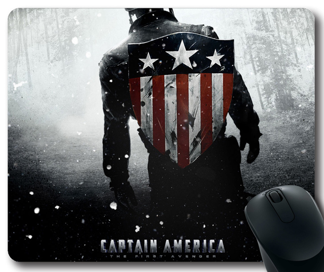 captain america rectangular mouse pad movies customized mousepad in