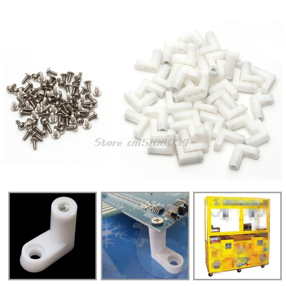 40Pcs/Set L Type PCB Mounting Feet with Screw for Arcade JAMMA MAME Game Board S08 Wholesale&DropShip(China)