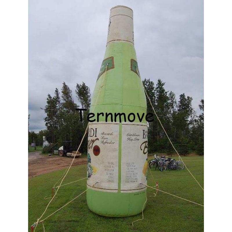 Надувная бутылка с пивом рекламы Реплика Форма с печатью индивидуальная цифровая печать взорвать бутылки Модель игрушки