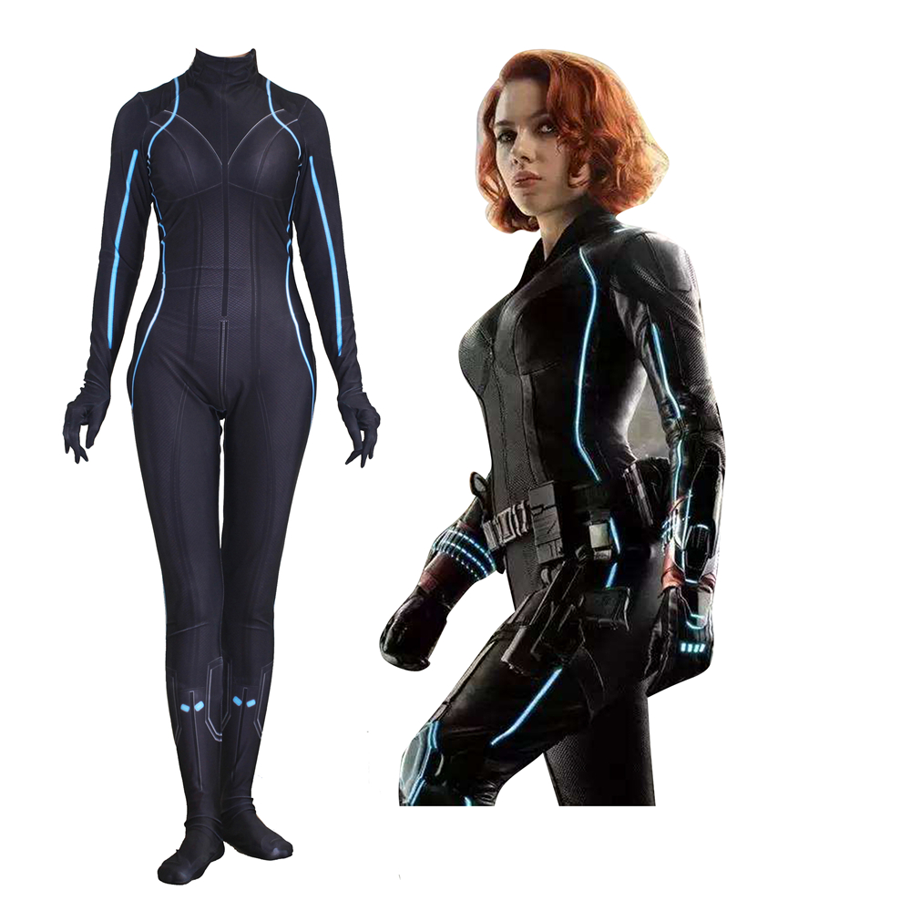Women Girls Black Widow Natalia Alianovna Romanova Cosplay Costume Zentai Bodysuit Suit Jumpsuits Fancy Halloween Ball