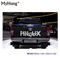 Auto Body Rear Tail Side Trunk Vinyl Decals Raptor Longhorn Hilux 900mm Sticker For TOYOTA HILUX