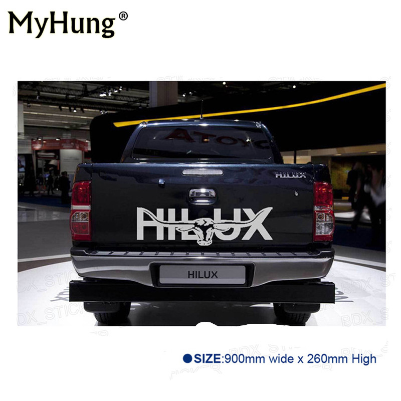 Car Stikers Longhorn Hilux 900mm Graphic Vinyl Sticker For TOYOTA HILUX Decals Badges Detailing Sticker Car-styling Accessories