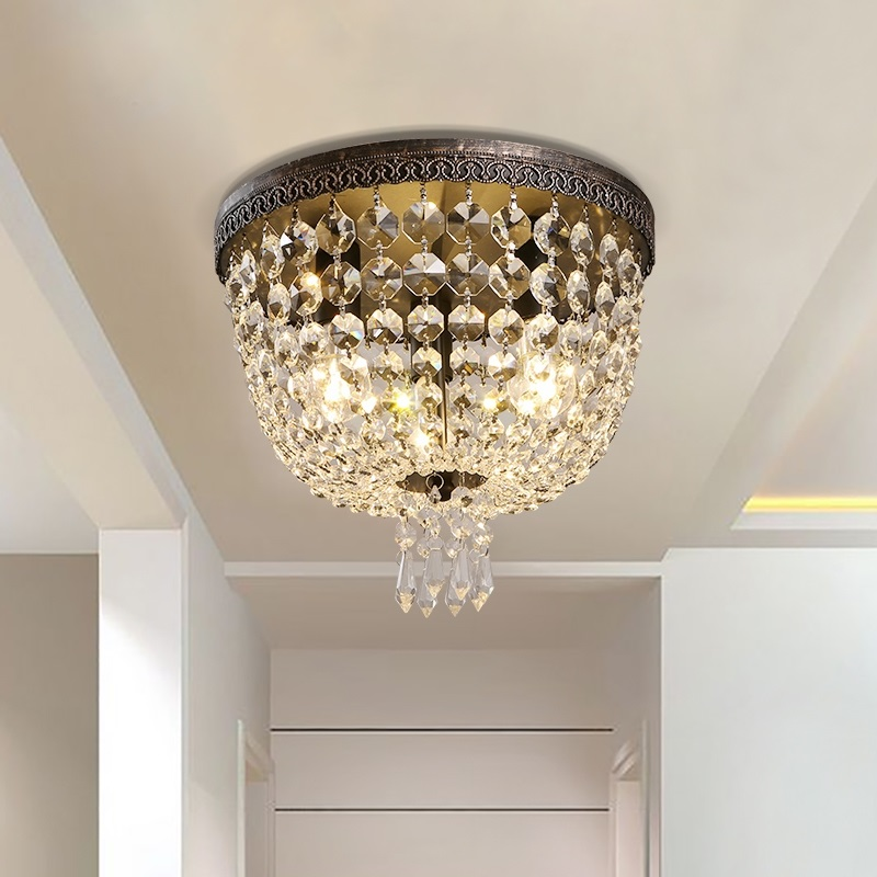Iwhd Nordic Crystal Lamp Led Ceiling Lighting Fixtures Living Room Iron Ceiling Light For Kitchen Modern Round Avize Available In Various Designs And Specifications For Your Selection Ceiling Lights & Fans