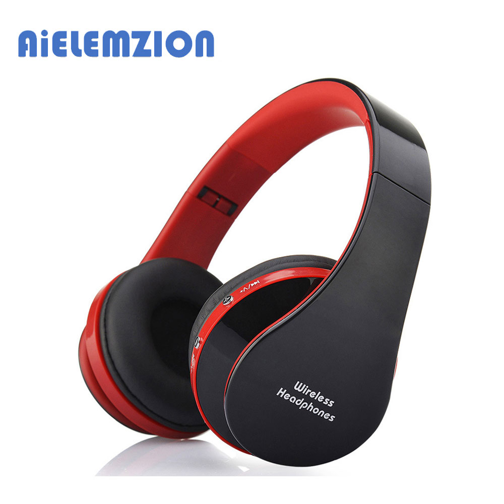 AiELEMZION Wireless Stereo Bluetooth Sport Headphone with Mic Foldable Sports Earphone Bluetooth Headset Headband economic set original nia q1 8 gb micro sd card a set bluetooth headphone wireless sport headsets foldable bluetooth earphone
