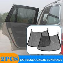 2pcs Car Window Sunshade Parasol Coche Sun Shade Rear Side Window Mesh Curtain Sunshade Film Sun Protector Auto Accessories