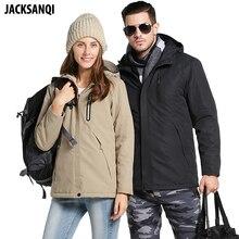JACKSANQI для мужчин Wo s зима USB Отопление куртки Светоотражающие пальто с капюшоном мужской непромокаемые теплые парки пеший Туризм ветровк