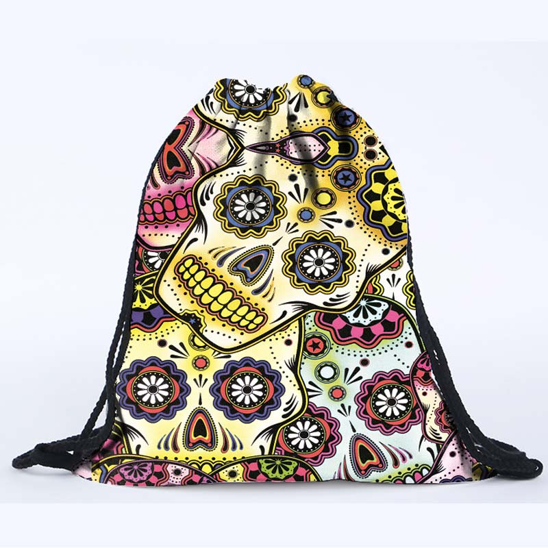 2016 latest fashion design 3D digital printing mexican skull drawstring  backpack bag beach bag on sale-in Backpacks from Luggage & Bags on  Aliexpress.com ...
