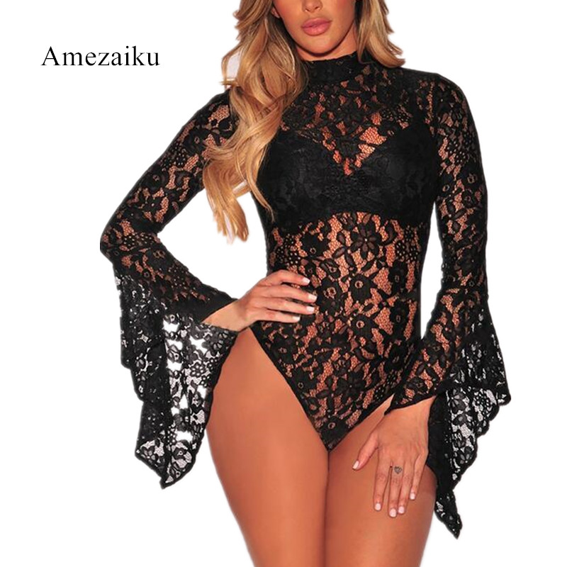 summer clothes Lace bodysuits playsuits woman fashion backless Europe and the United States hot style lace jumpsuits