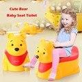 Logotipo do urso Dos Desenhos Animados Do Bebê Assentos de Toalete Potty Wc Portátil Cadeira Dobrável Escada Nova Marca Fácil de Transportar Fácil de Lavar