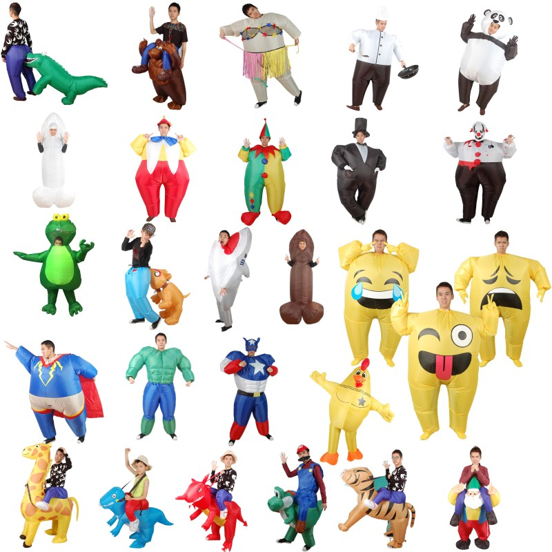 Funny Inflatable Costumes for adults Holiday Carnival Costume Women Funny Party Dress Animal Cosply Halloween Costume for Kids
