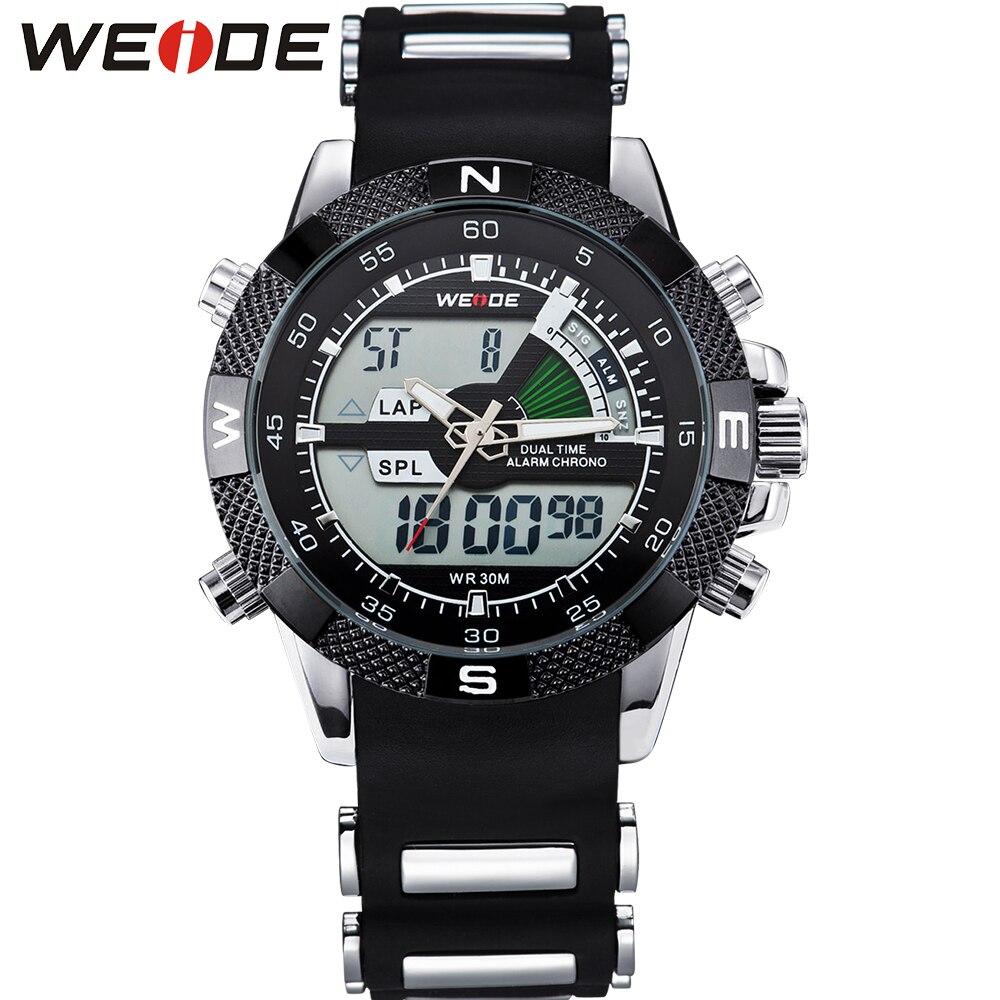 WEIDE Mode Chronographe de Sport Hommes Mâle Montres Top Marque De Luxe Quartz Montre Reloj Hombre Horloge Mâle heure Relogio Masculino