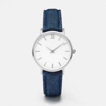 Модные женские туфли часы джинсы кожаный ремешок аналог кварцевые наручные часы-браслет с марки Luxury Для женщин часы reloj mujer Прямая поставка C3
