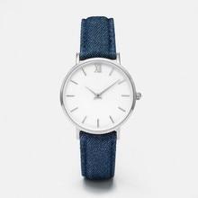 Fashion Women Watch Jeans Leather Strap Analog Quartz Wristwatch Bracelet Top Band Luxury Women Watches reloj mujer Dropship C3