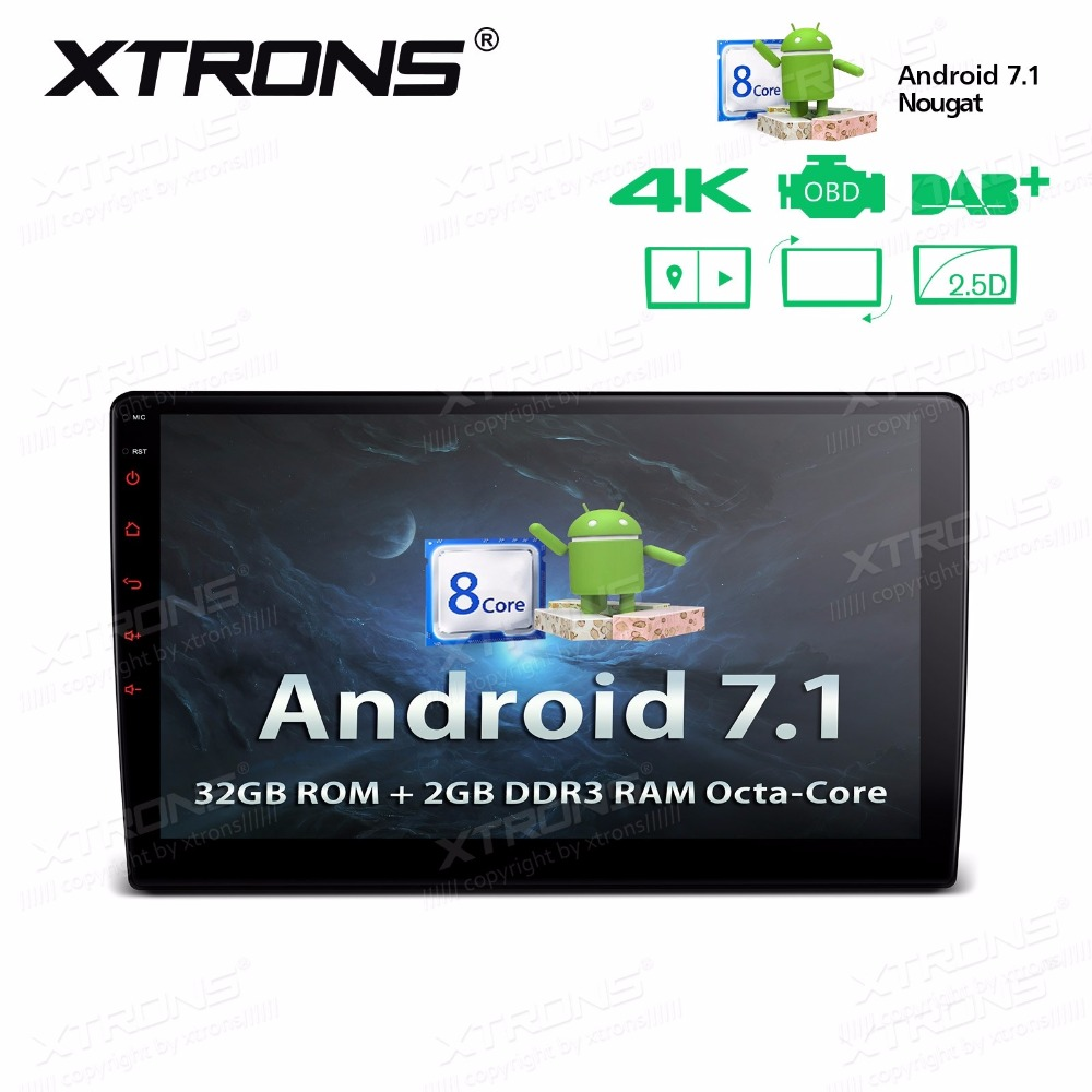 10.1 Android 7.1 Nougat OS Double Din Car Multimedia 2 Din Car Navigation GPS Two Din Car Radio with 2.5D Curved Screen image